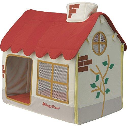 Happy House Decke (M) Rippstoff Rot