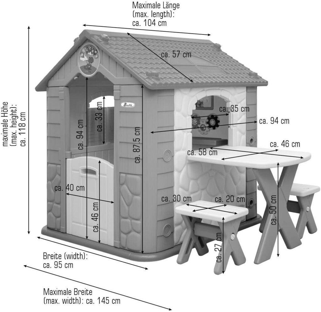 Dimensionen LittleTom Kinder Spielhaus