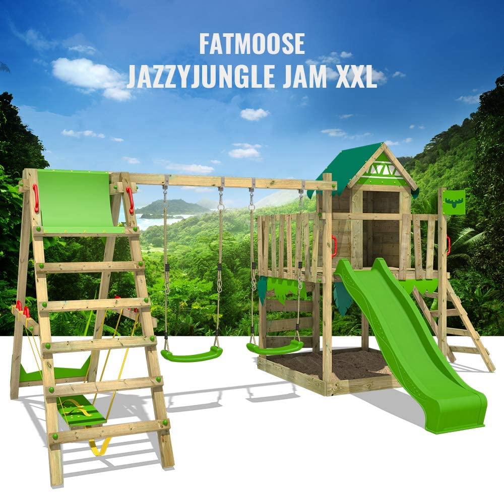 FATMOOSE Spielturm JazzyJungle Spielhaus