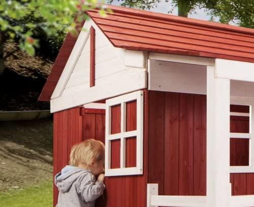 Holz Kinder Spielhaus Ida Schwedenhaus Holzhaus Gartenhaus Haus Kinderhaus rot
