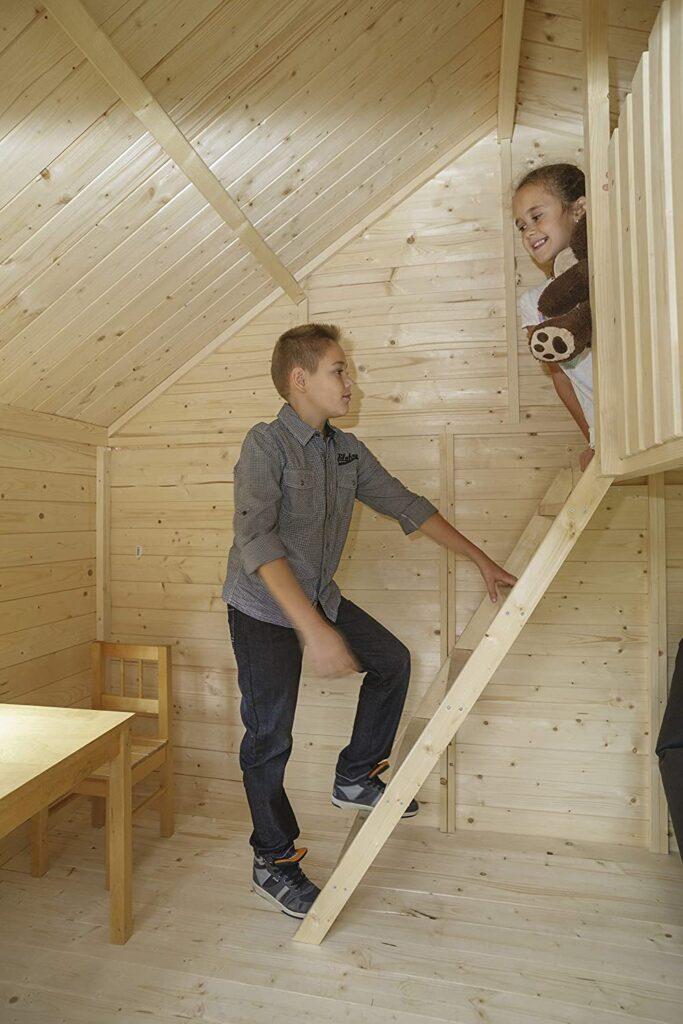 Innen Gartenwelt Riegelsberger Kinderspielhaus Claudia 1 Kinderhaus Spielhaus inkl. Dachpappe V13