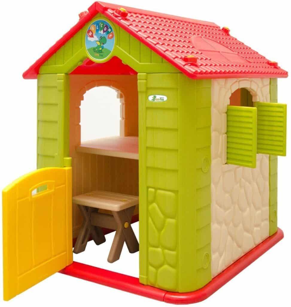 LittleTom Kinder Spielhaus ab 1 - Garten Kinderhaus mit Tisch