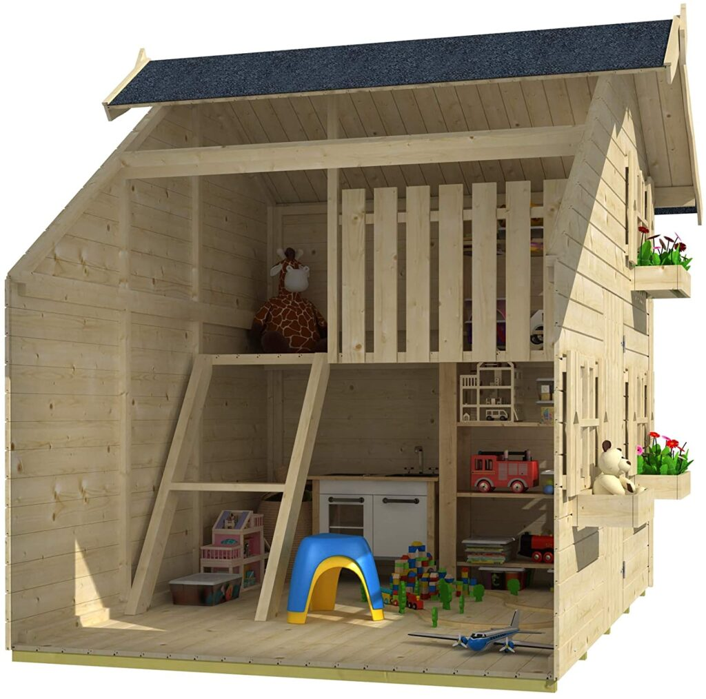 Seite Gartenwelt Riegelsberger Kinderspielhaus Claudia 1 Kinderhaus Spielhaus inkl. Dachpappe V13