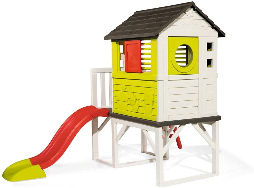 Smoby – Stelzenhaus - Spielhaus mit Rutsche, XL Spiel-Villa auf Stelzen