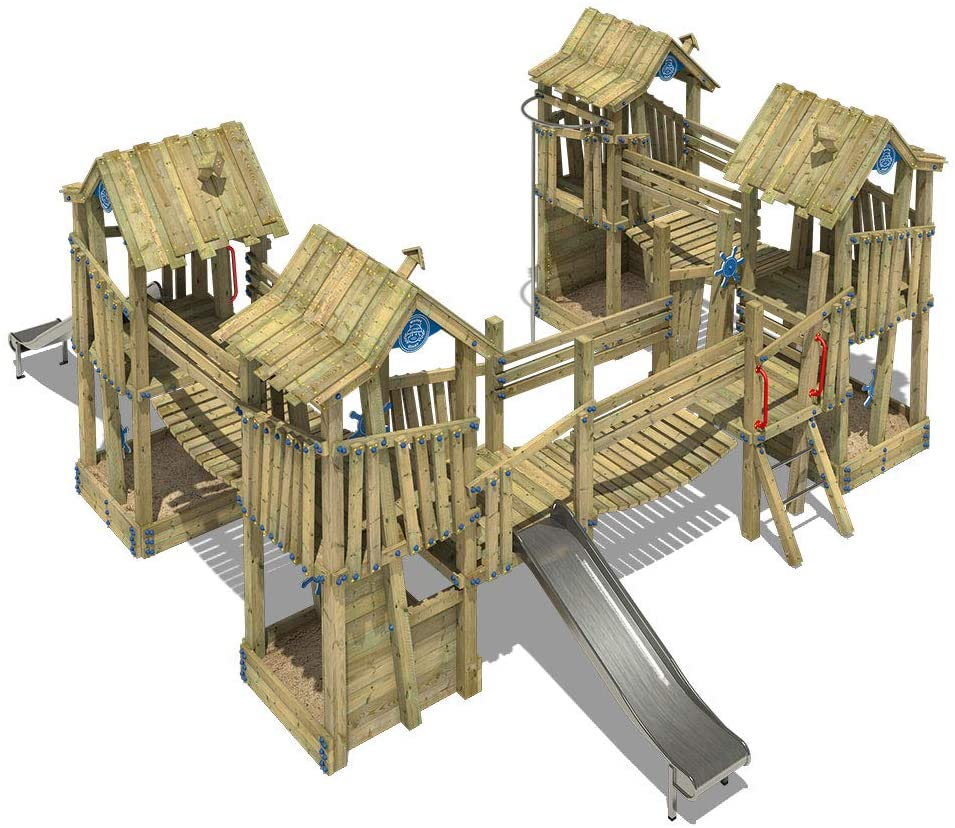 WICKEY Spielturm Klettergerüst GIANT Kingdom