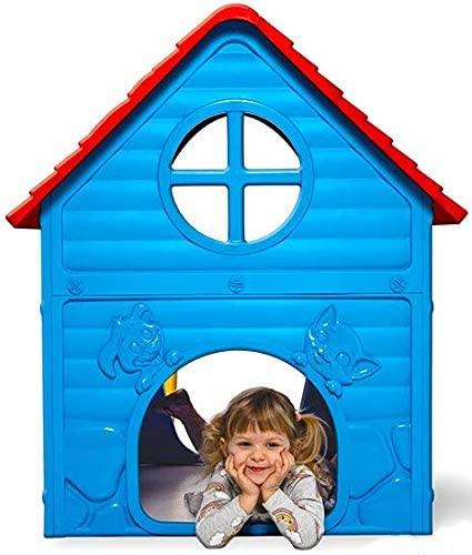 thorberg Spielhaus Kinderspielhaus blau-gelb-rot (Made in EU)